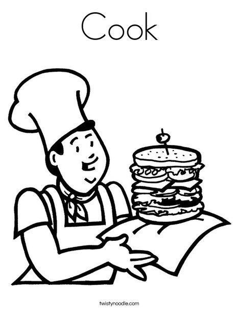 Cook Coloring Page Coloring Pages For Kids Food Coloring Pages Coloring Pages