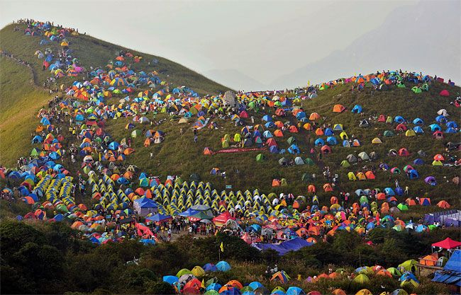 Camping Festival in China
