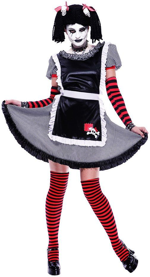 Gothic Rag Doll Childtween Costume Medium 8-10 -4600