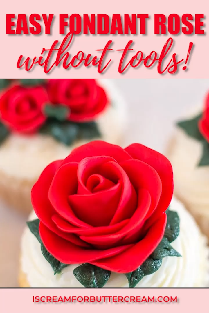 Easy Fondant Rose Without Tools