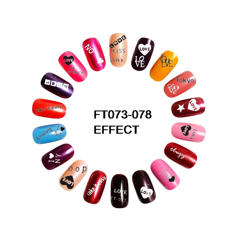 6 SHEETS/LOT 3D Easy-Stick Back Adhesive Nails Art Sticker decals ...