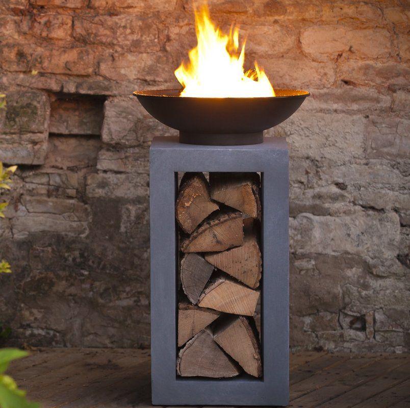 Ivyline Feuersaule Firefly Bewertungen Wayfair De Feuersaule Feuer Schalen Tragbarer Kamin