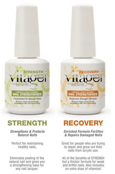 Vitagel Strength and Recovery Nail Harmony, Gelish Colours, Spirit Finger, Soak Off Gel