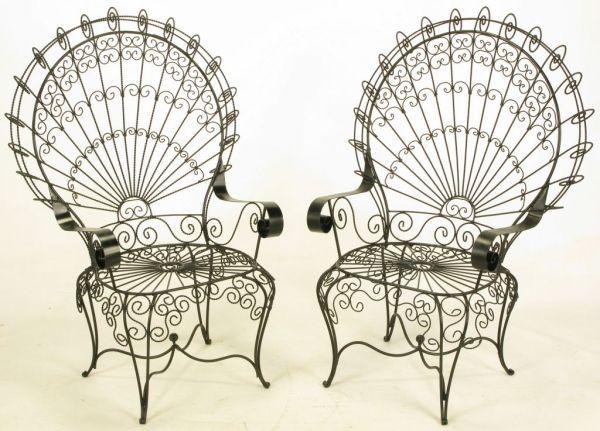 decorative iron chairs