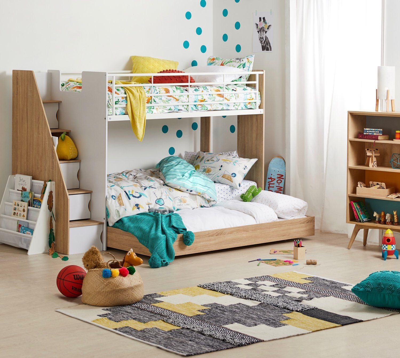 gender neutral room bunkbed with storage room on Unisex Bedroom Ideas id=57684