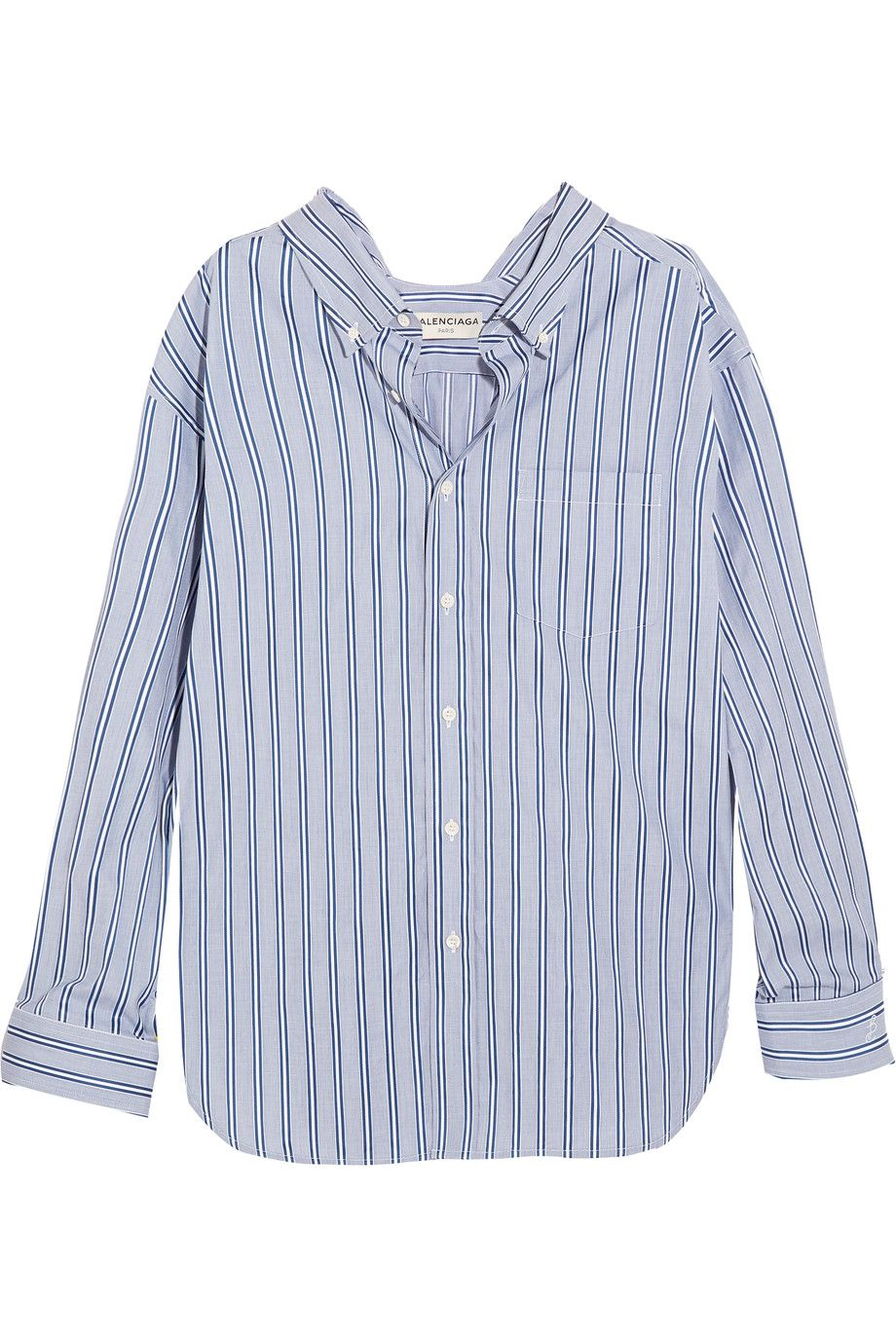 Balenciaga | Striped cotton-poplin shirt | NET-A-PORTER.COM