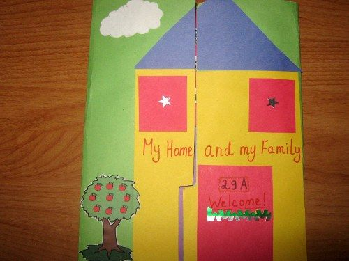 Inside View Of The Lapbook My Family Assignment Kindergarten