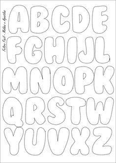 Feltro Fácil Molde Do Alfabeto Felt Letters Template Sewing Lique