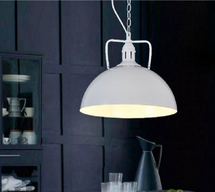 Dome Pendant Light Modern Industrial Style Pot Cover Chain Restaurant Dining Room Foyer Parlor Lighting