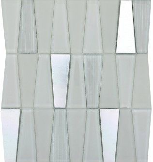 Tile Imagine Glass & Metal Trapezoid Mosaic Blend