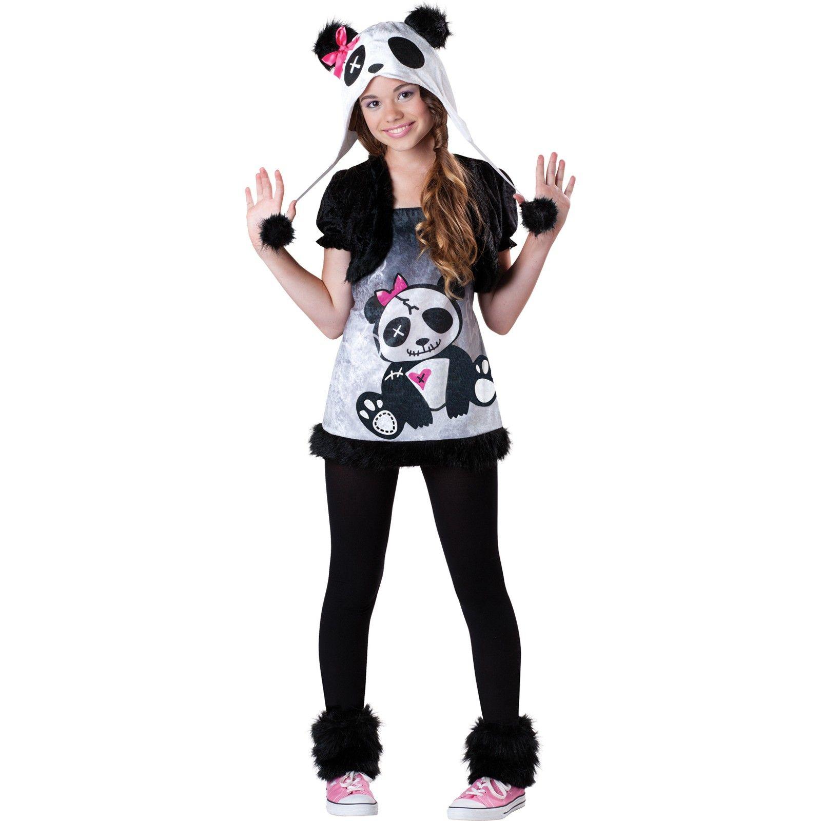 Animal animals cute Panda Halloween cosplay costumes teen costume ...