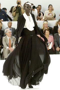 Chanel Fall 2004 Couture Fashion Show - Alek Wek