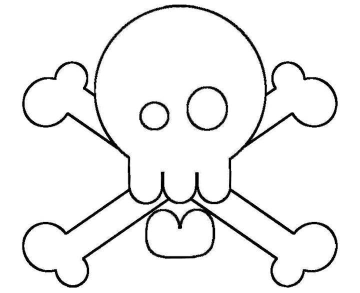 Silly Skull Coloring Page