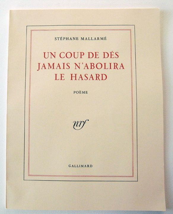 Stephane Mallarme Un Coup De Des Jamais N Abolira Le Hasard Printed On July 10 1914 Typographic Layout Books Poems