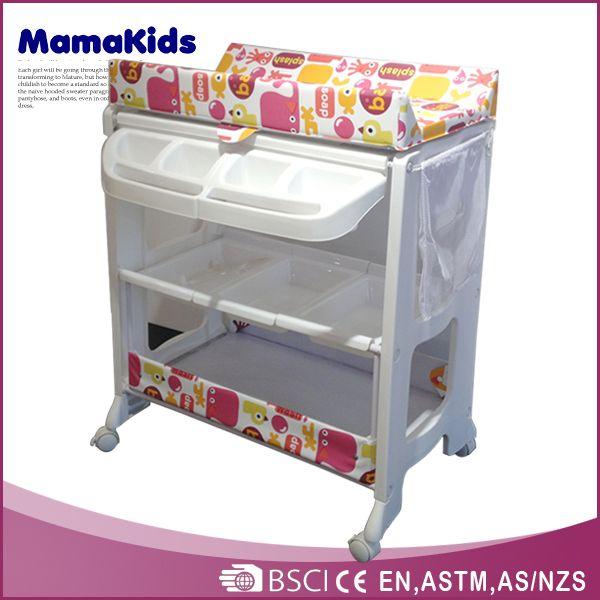 Europe Style Plastic Baby Changing Table/baby Folding Bathtub