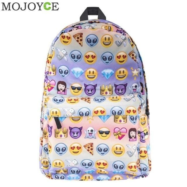 """FASTEST SELLER"" Funny Emoji Waterproof Backpack in 2019"