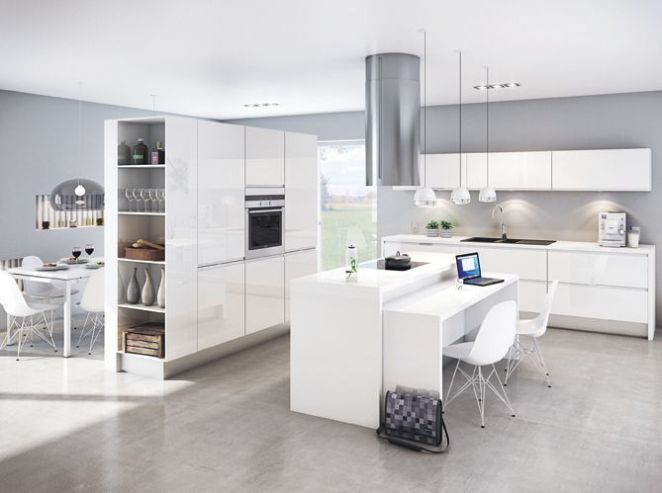 Idée relooking cuisine Une cuisine ouverte avec meuble-cloison - Comment Choisir Hotte De Cuisine