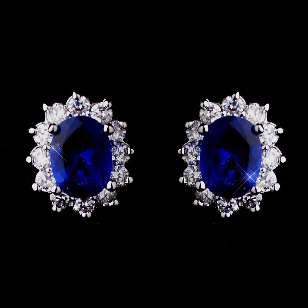 Kate Middleton Inspired Sapphire Blue Earrings