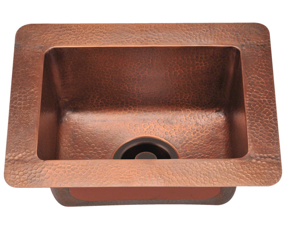 Single sink kitchen  P Small Single Bowl Copper Sink  Products