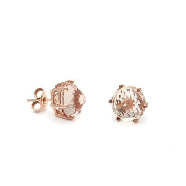 298dc56a02d0e8 Anna Shefield ~Eleonore Stud Earrings - Rose Gold & Peach Morganite ...