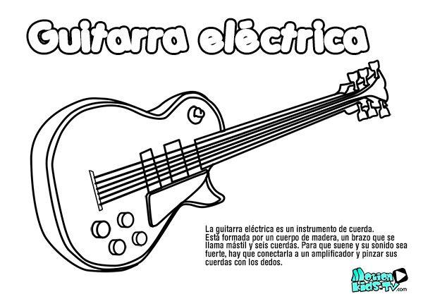 Pintas instrumentos musica GUITARRA ELECTRICA recursos educativos