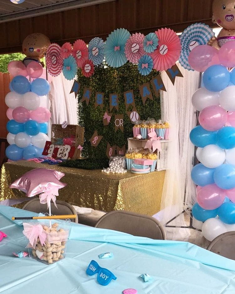 Baseball Or Bows Gender Reveal Backdrop Decoration Gender Reveal Decorations Baby Gender Reveal Party Bow Gender Reveal