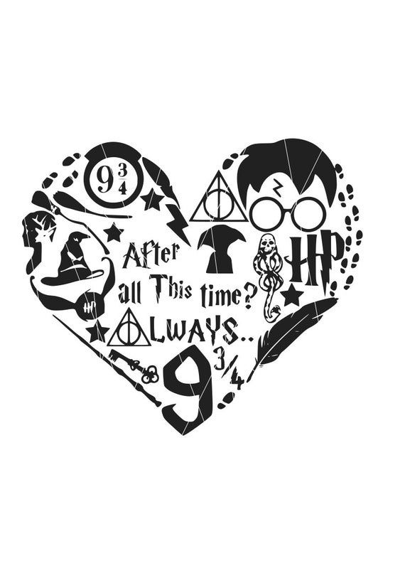 Download Harry potter heart svg png dxf eps , After all this time ...