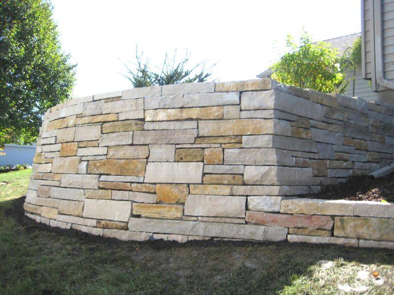 Images Of Door County Limestone Retaining Wall Ashlared