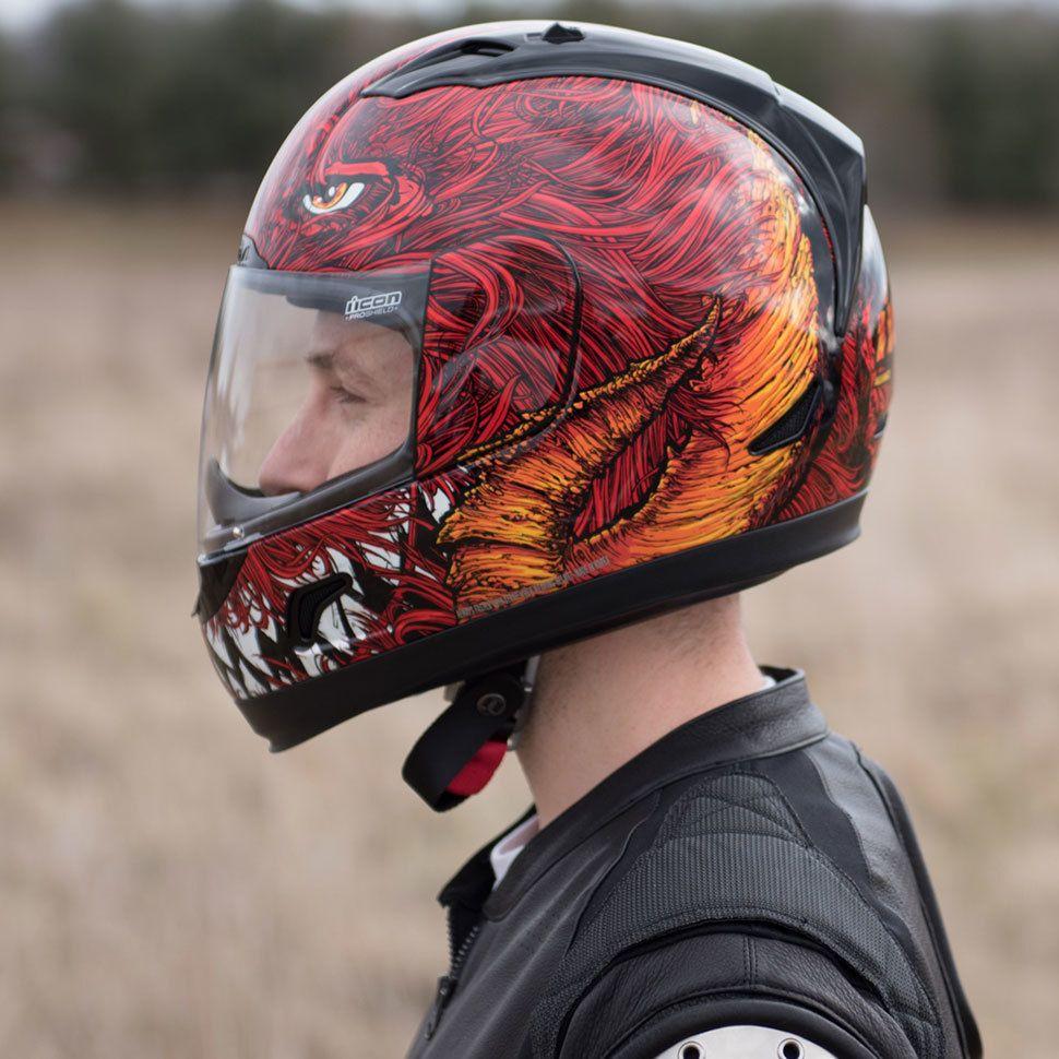 Car amp bike fanatics suzuki m50 bobber bike - Icon Alliance Lucifer Helmet