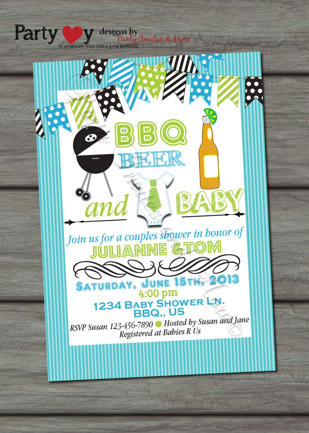 Beer BBQ and Baby Joint Baby Shower Boy , Digital Print File, DIY ...