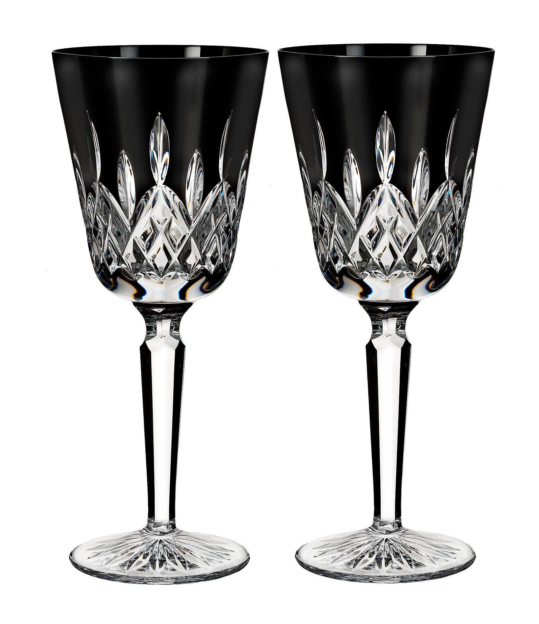Waterford Lismore Black Crystal Goblet Pair Dillard S In 2021 Crystal Goblets Black Crystals Waterford Lismore