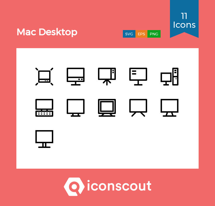 Download Mac Desktop Icon Pack - 11 Line Icons   Mac desktop ...