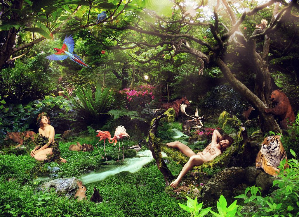 Garden Of Eden By Amosha Deviantart Com Our Father Who Art In
