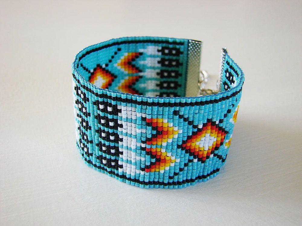 bracelet indien bleu