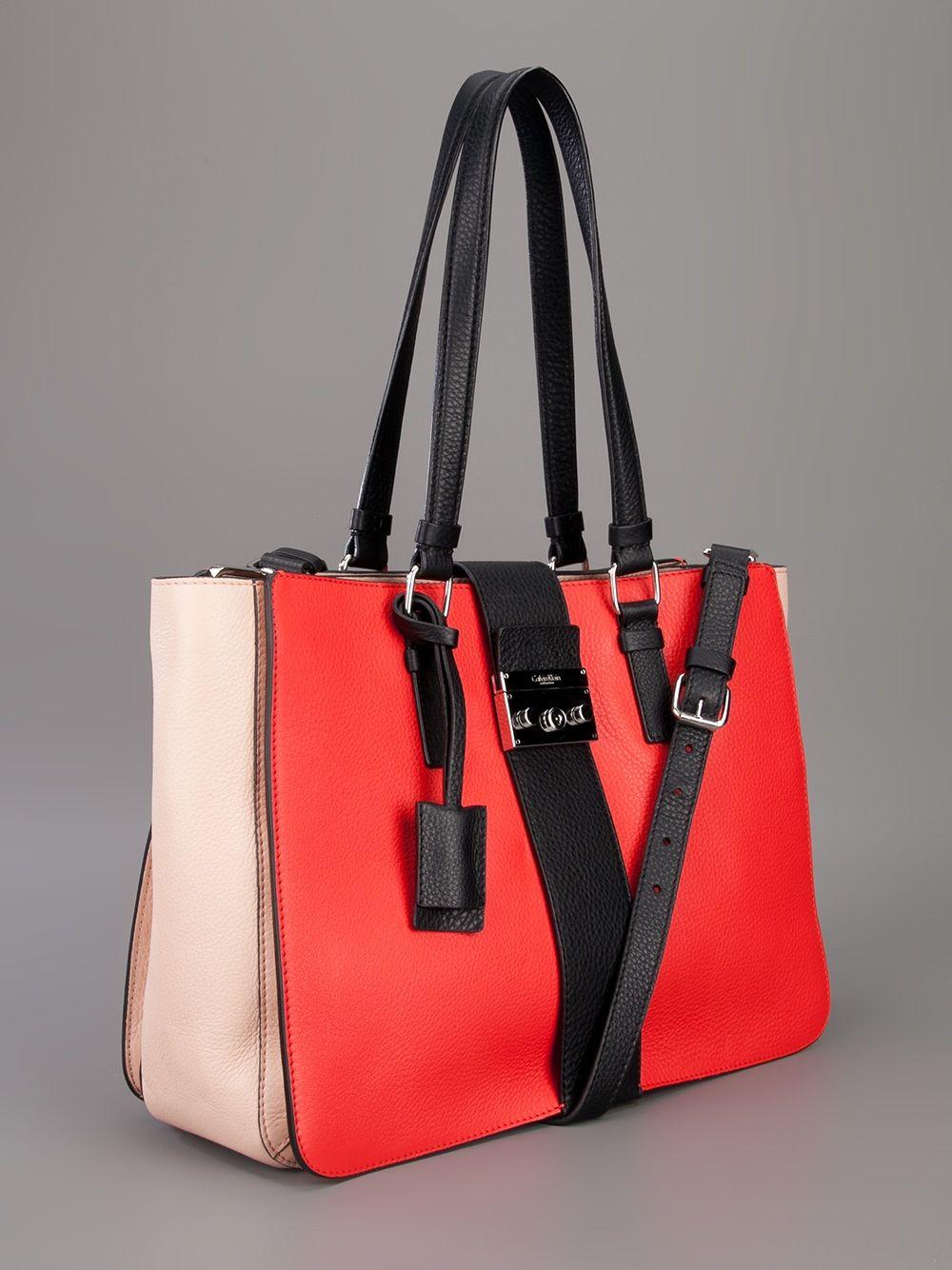 CALVIN KLEIN COLLECTION colour block shoulder bag