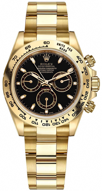 Rolex Cosmograph Daytona Yellow Gold 116508 Black Index