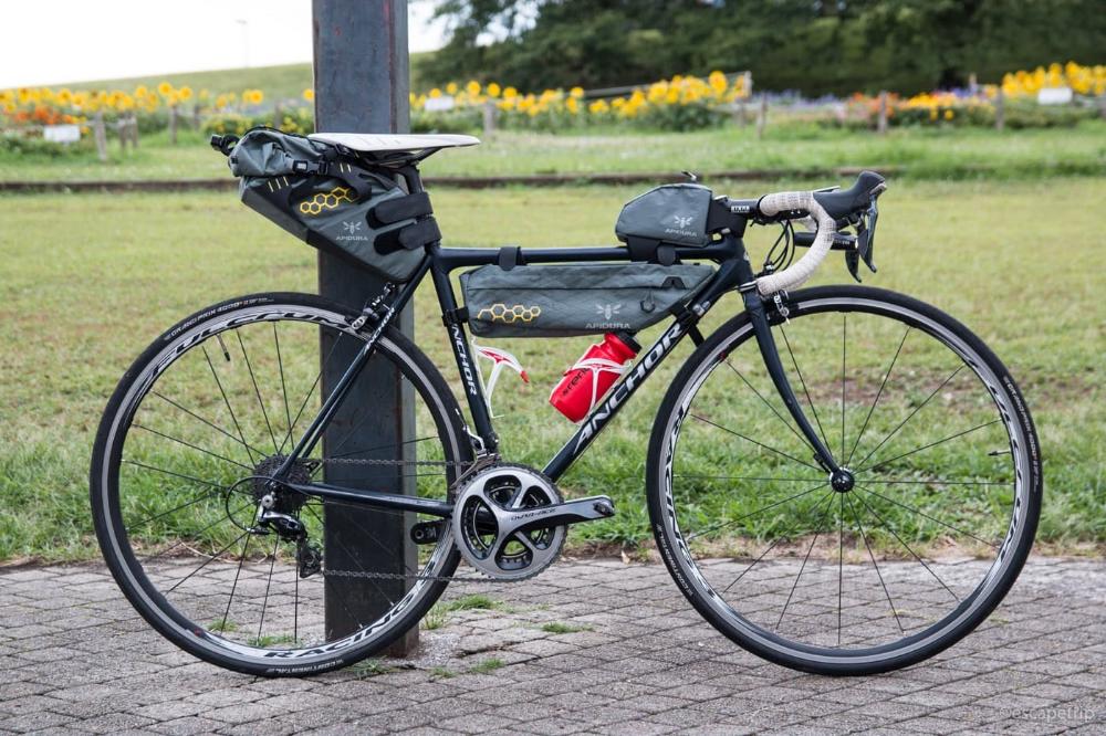 アピデュラの トップチューブバッグ よく使う荷物を突っ込める 使い勝手のいい小物バッグでした エスケープ紀行 自転車 自転車 旅 自転車 バッグ