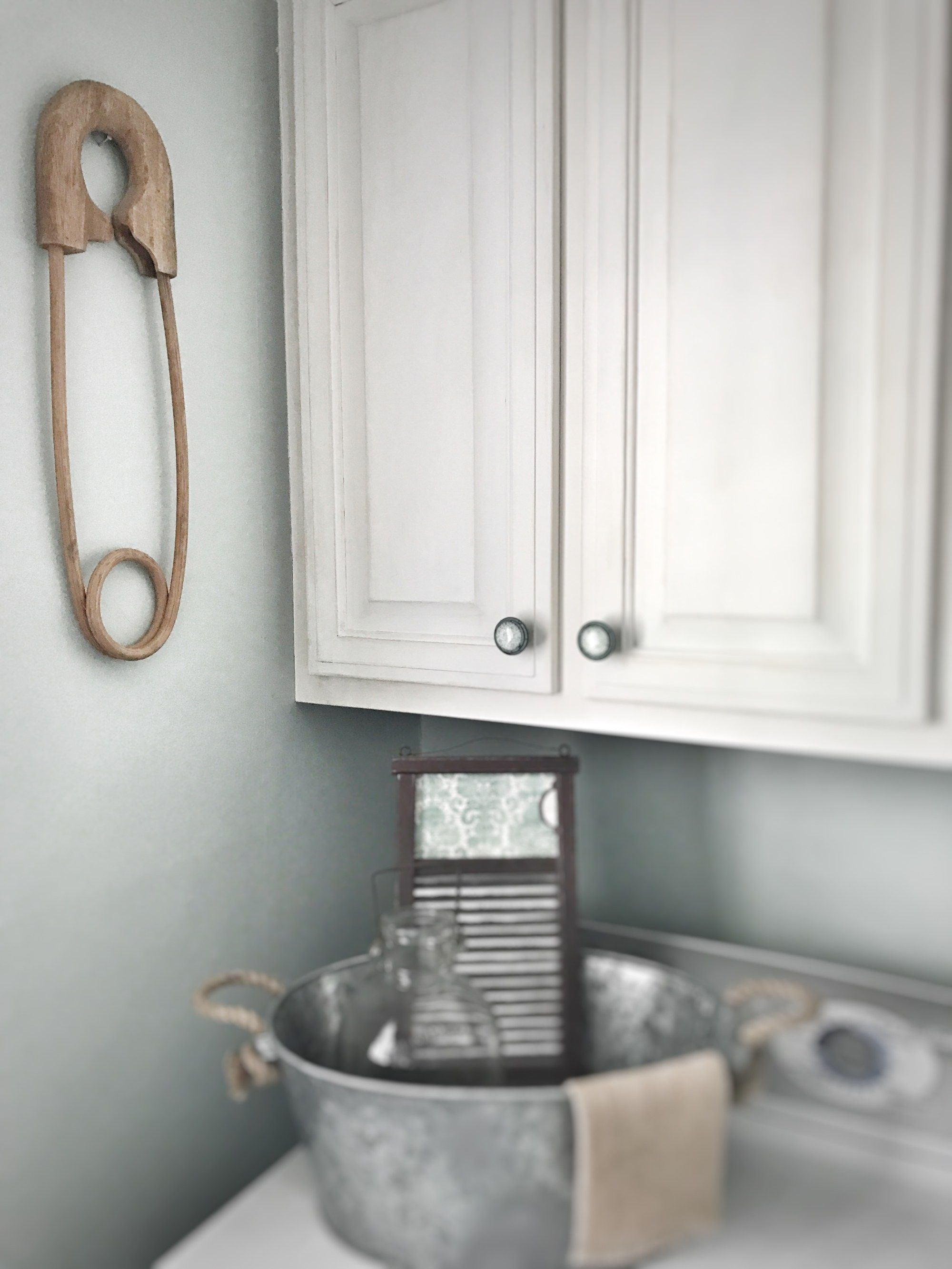 Laundry Room Makeover 5 Easy Steps - Bless This Nest