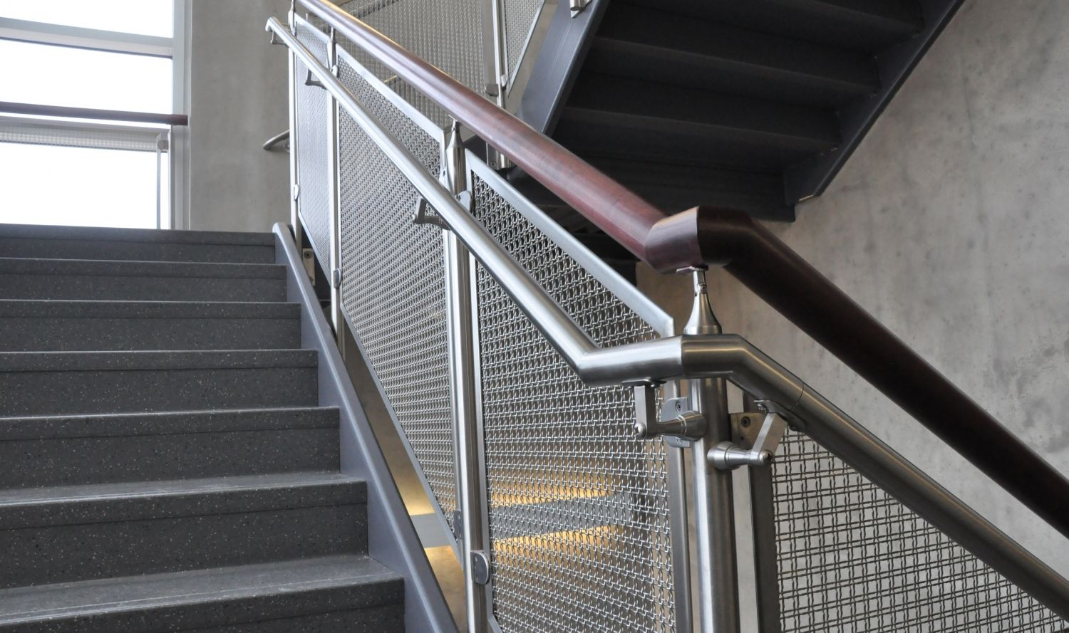 The openness of the stainless steel wire mesh railing infill panels ...