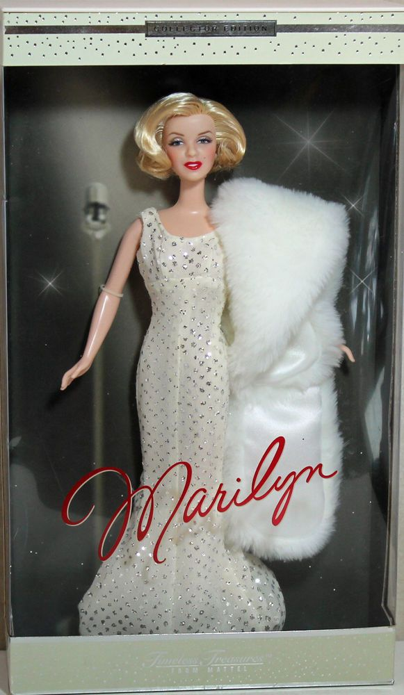 DRESS MATTEL BARBIE DOLL HOLLYWOOD PREMIERE SILKSTONE WHITE MARILYN EVENING GOWN