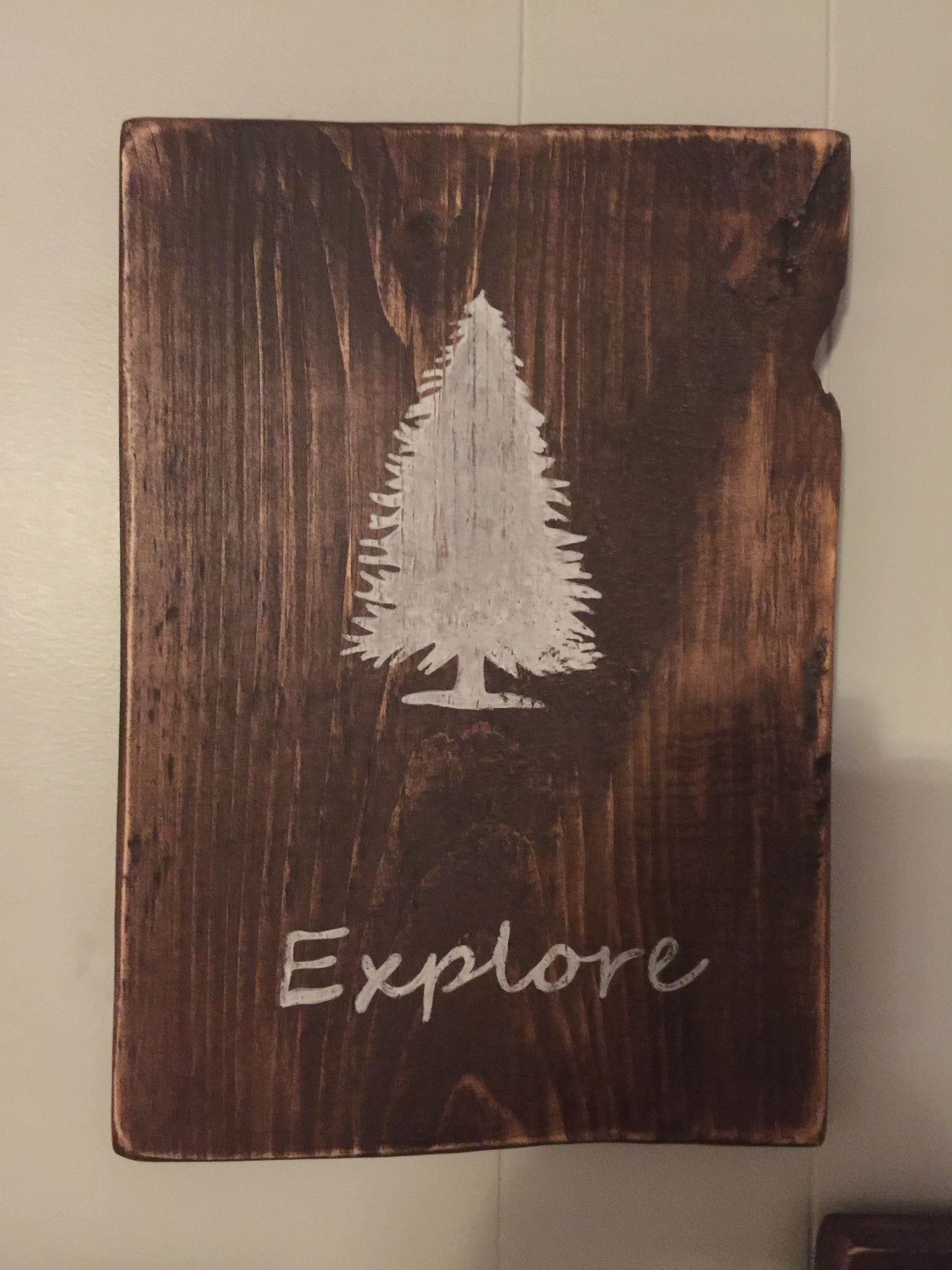 Explorewoodland wall art painted wooden signs explore and walls