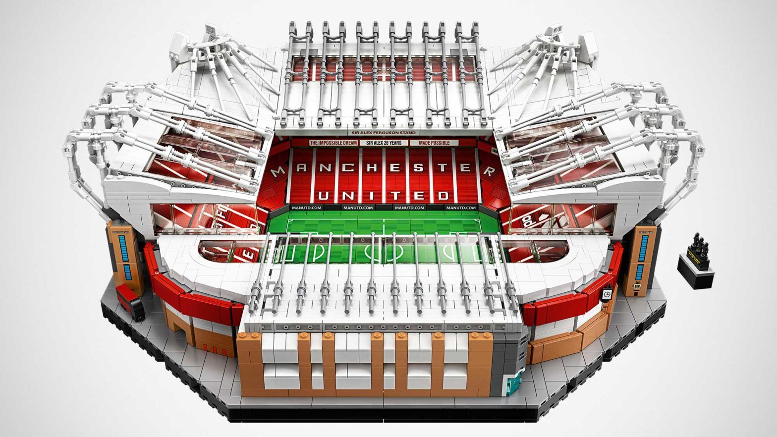 Lego Celebrates 110 Years Of Old Trafford With Lego Creator Expert Old Trafford Stadium Set In 2020 Manchester United Old Trafford Old Trafford Manchester United Gifts