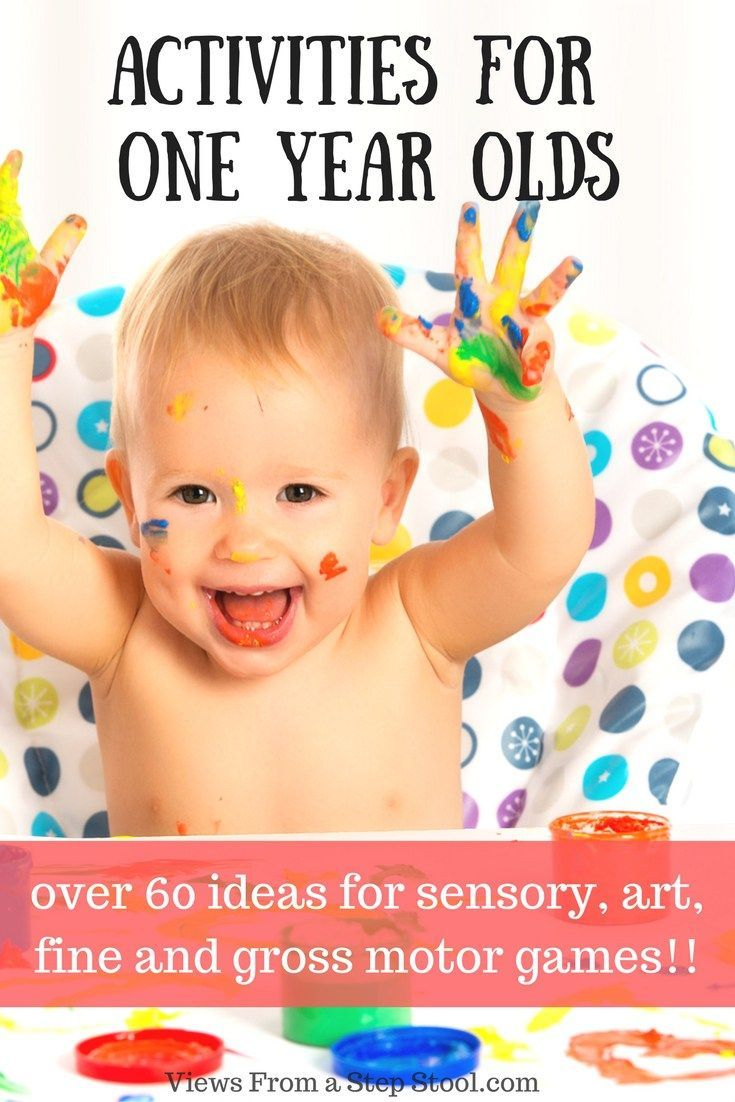 60 activities for 1 year olds sensory art gross motor for Arts and crafts for 2 year olds