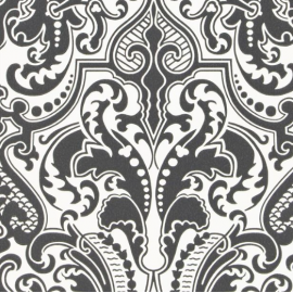 Designers Guild Gwynne Damask Charcoal tapetti