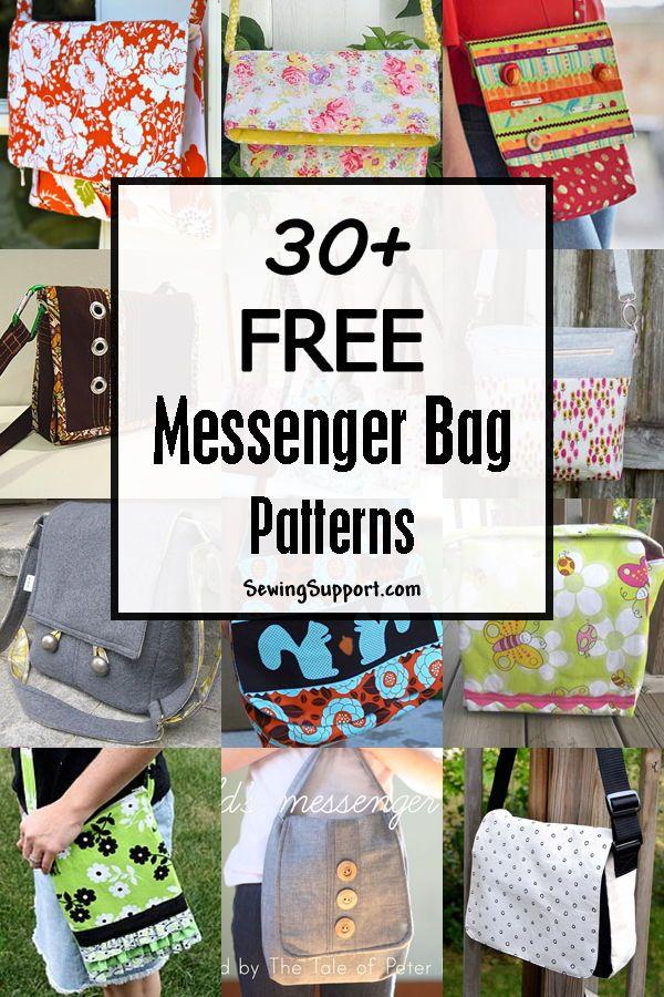 30+ Free Messenger Bag Patterns #bagpatterns