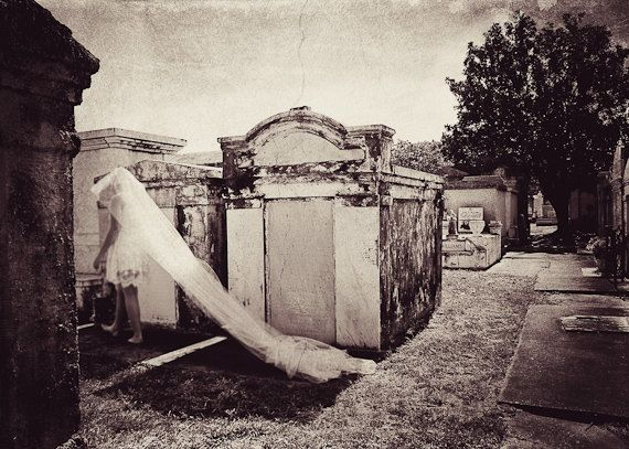 New Orleans Cemetery Ghost by Sugarberryphotos on Etsy, $25.00