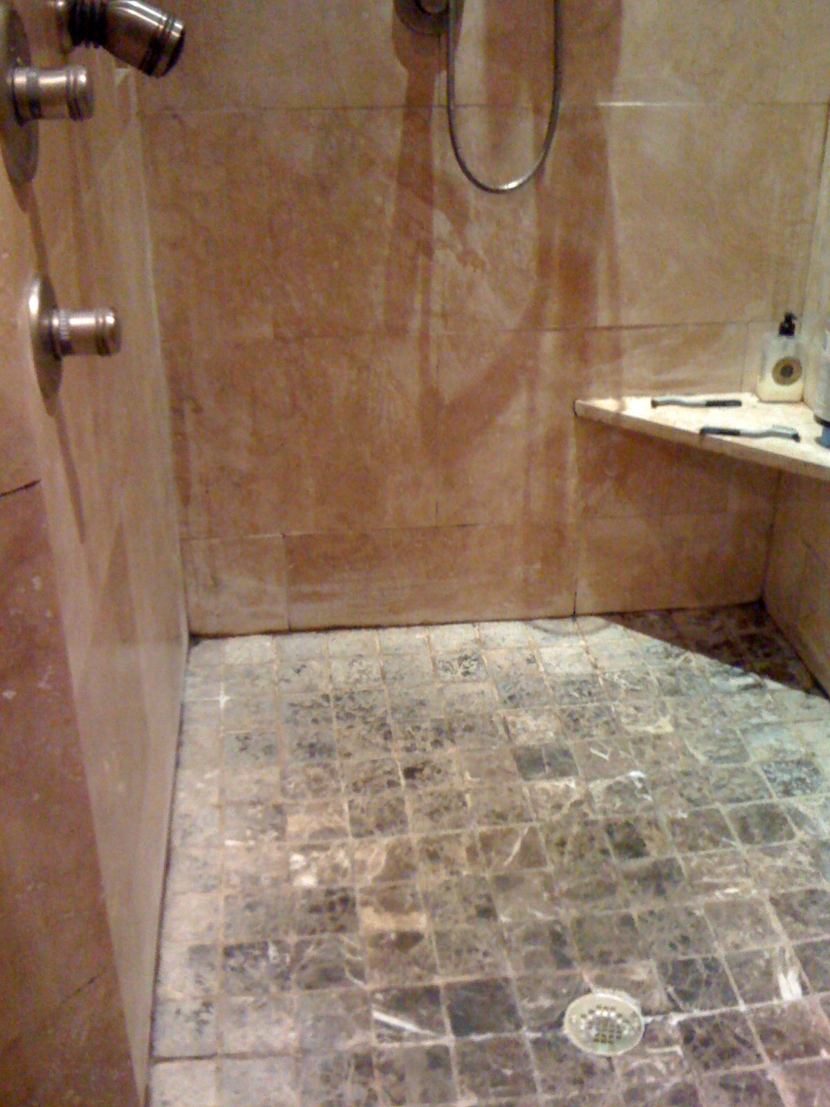 Tile is the result of an improperly installed shower. Mold