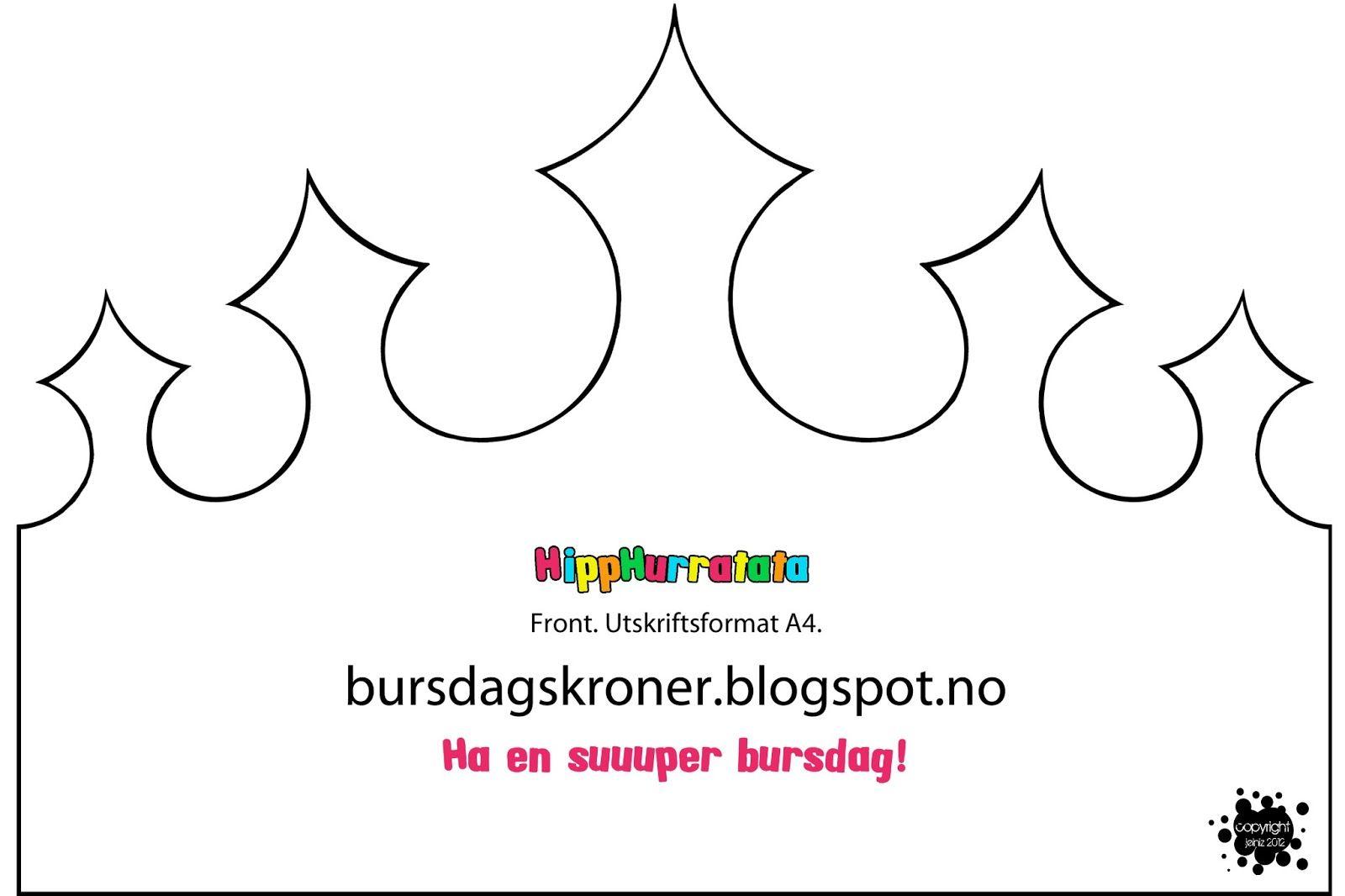 Mal Til Hipphurratata Krone Bursdagskronerspot