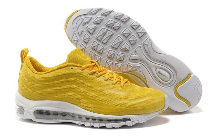 timeless design bce9c e3512 Nike Air Max 97 Cushion Shoes Yellow White