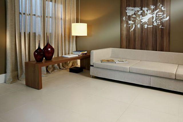 Decora o 30 salas com porcelanato e piso cer mico for Modelos de ceramica para pisos de sala